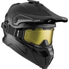 CKX Hjälm + goggle Titan Solid matt svart