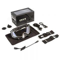 CKX Goggle 210° El svart/klar lins