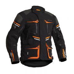 Lindstrands Textiljacka Sunne Svart/orange