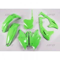 UFO Plastkit 5-delar KXF250 2017- Flou grön