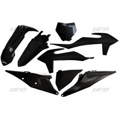 UFO Plastkit 5-delar KTM SX/SXF125-450 19- Svart 001