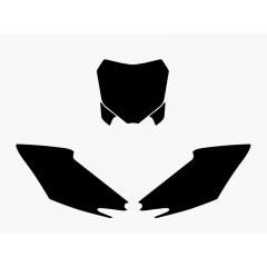 Blackbird nummerbottnar svart CRF250 14-15/CRF450 13-16