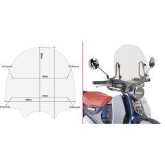 Givi Specific screen, transparent 38,5 x 40 cm (H x W) Honda Super Cub C125 (18)