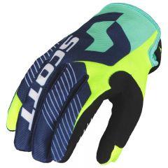 Scott  Handske 350 Angled blå/gul