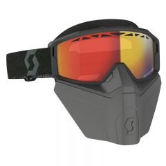 Scott Goggle Primal Safari Facemask LS black ls red chrome