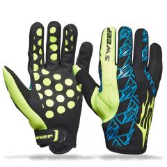 Sweep Freeride, neoprene Handske, svart/gul/blå