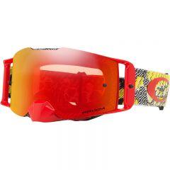 Oakley Goggles Front Line SX Dazzle Dyno Red Yellow w/ Dual Prizm Torch