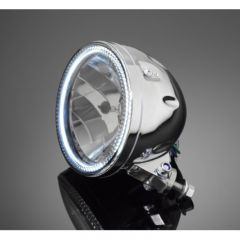 Highway Hawk 5 3/4 HEADLIGHT  WITH LED-RING CHROM
