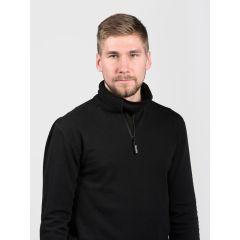 SVALA Merino Zip-Neck svart