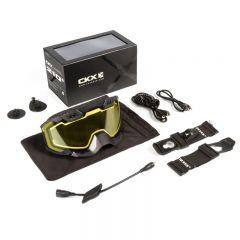 CKX Goggle 210° El svart/gul lins
