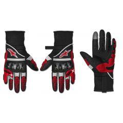 Alpinestars Handske GP X v2 Svart/Röd fluo