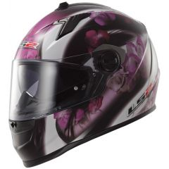 LS2 hjälm FF322 CHIC BLACK pink
