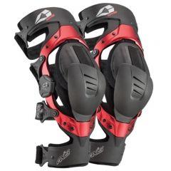 EVS AXIS SPORT Knäskydd svart, röd