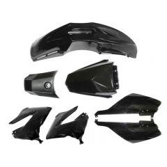 Tec-X Plast-kit / Kåpkit,  Svart, Derbi Senda R X-Treme 03-10, SM X-Treme 02-10
