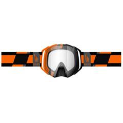 MT MX Evo Stiripes glasögon, orange/svart