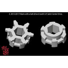 "Avid Drivhjulspar Polaris Beltdrive, centerdrive 3.5"" 6 kugg"