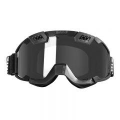 CKX Goggle 210° svart/spegel lins