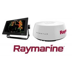 "Raymarine, Axiom 9"" monitoiminäytto + Quantum 18"" Wi-Fi tutka"