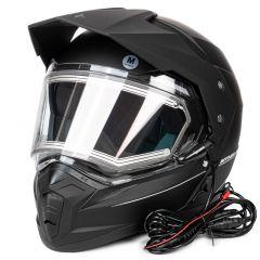 MT Duo Sport hjälm, matt svart, med el-uppvärmt visir