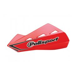Polisport Qwest Handguards + Universal Plastic Mounting Kit Red CR04