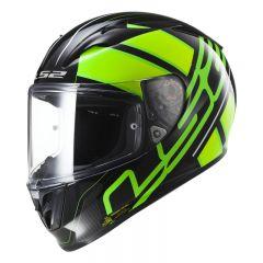 LS2 Hjälm FF323 ION svart/ Fluo grön