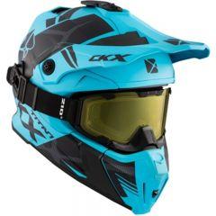 CKX Hjälm + Goggles TITAN Climb Ljusblå matt