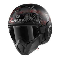 Shark Street Drak Krull, matt svart/röd