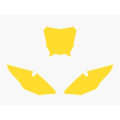 Blackbird nummerbottnar gul CRF450 17-
