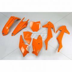 UFO Plastkit 5-delar Orange 127 KTM SX/SXF125-525 16-18 Ej SX 250 2016