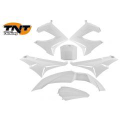 TNT Plast-kit / Kåpkit,  Vit, Derbi Senda R X-Treme 03-10, SM X-Treme 02-10