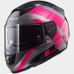 LS2 Hjälm FF397 TRIDENT titanium pink