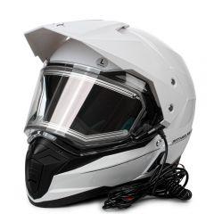 MT Duo Sport hjälm, vitt, med el-uppvärmt visir