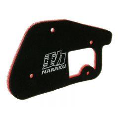 Naraku Luftfilter, Double Layer, Minarelli Stående, MBK Booster / Yamaha BWS