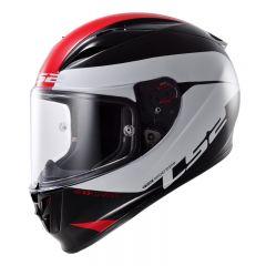 LS2 hjälm FF323 R COMET svart/vit/röd