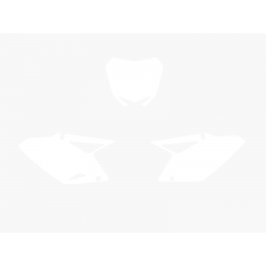 Blackbird nummerbottnar vit RMZ450 08-15