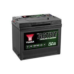 Yuasa L26-80 Active Leisure Battery 12V 80Ah 560A OBS.Pallfrakt