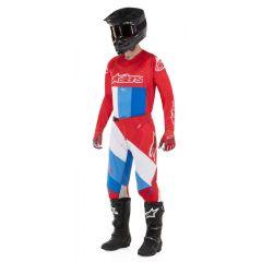 Alpinestars byxor Techstar Venom, röd/vit/blå