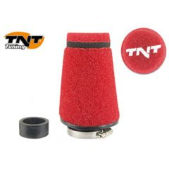 TNT Luftfilter Seed, Röd, Anslutning Ø 28/35mm, (Ø 70mm l. 100mm)