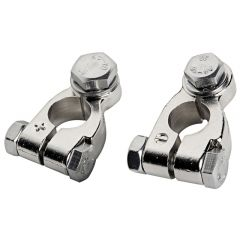 Big battery clamps,n-p brass
