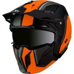 MT Streetfighter SV hjälm, Twin C4 Matt Fluor Orange