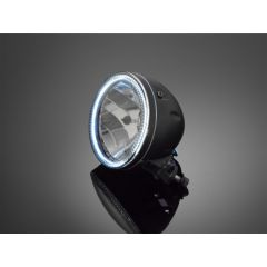 Highway Hawk 5 3/4 HEADLIGHT  WITH LED-RING BLACK