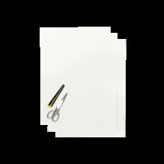 Blackbird Klisterark  vit 47x33cm (3st)