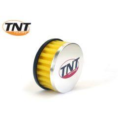 TNT Luftfilter, R-Box, Gul, Anslutning Ø 28/35mm, (Ø 85mm l. 39mm)