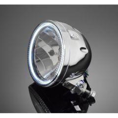 Highway Hawk 5 3/4 HEADLIGHT  WITH LED-RING CHROM