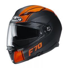HJC Hjälm F70 Mago Svart orange MC7SF