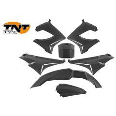 TNT Plast-kit / Kåpkit,  Svart, Derbi Senda R X-Treme 03-10, SM X-Treme 02-10
