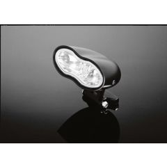 Highway Hawk headlight double  oval dull-black blue-lens
