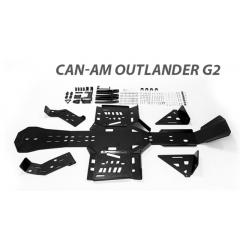 Rival Hasplåt kit plast Can-AM Outlander G2 STD/MAX/XMR 2017-2018