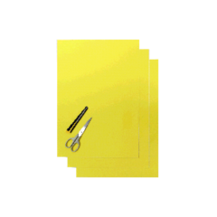 Blackbird Klisterark  gul 47x33cm (3st)